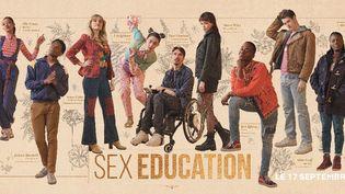 Visuel à l'occasion du lancement de la saison 3 de Sex Education (Compte Twitter de Netflix France)