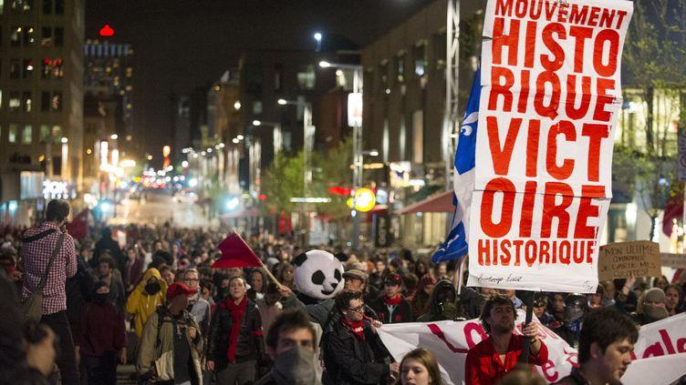A Montréal (Canada), le 16 mai 2012. (ROGERIO BARBOSA / AFP)