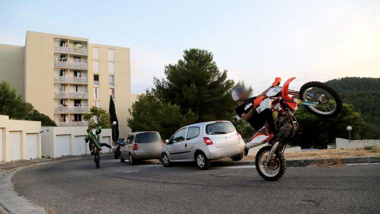 Du rodéo sauvage à Marseille, dans les Bouches-du-Rhône. (photo d'illustration) (ROSSI DAVID / MAXPPP)