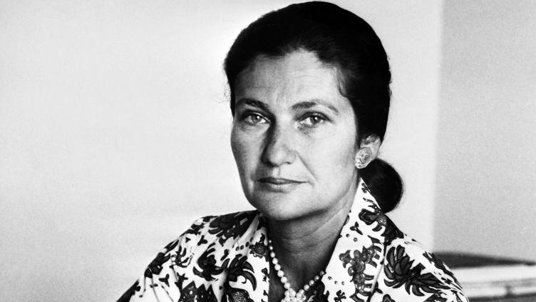 Simone Veil, alors ministre de la Santé, le 1er janvier 1974  (AFP)