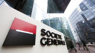 Le siège de la Société générale, à la Défense (Hauts-de-Seine), le 16 février 2012. (MAXPPP)