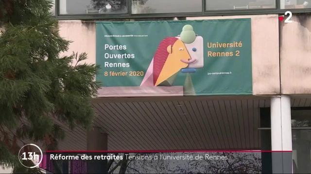 Réforme des retraites : examens reportés à l'université de Rennes