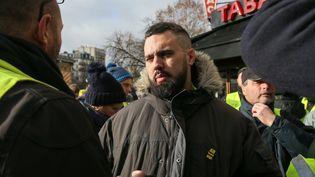 Eric Drouet, le 26 janvier 2019, à Paris. (MICHEL STOUPAK / AFP)