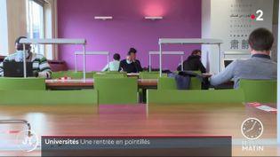 Des étudiants dans une bibliothèque universitaire. (France 2)