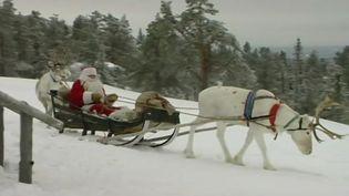 Le père Noël le 23 décembre 2016à Korvatunturi, dans le nord de la Finlande. (EVN)
