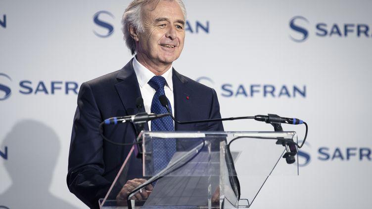 Le directeur général de Safran, le 6 février 2019 à Gennevilliers (Hauts-de-Seine). (THOMAS SAMSON / AFP)