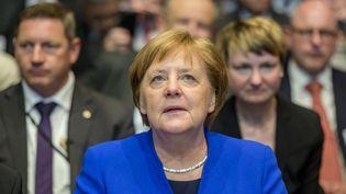 La chancelière allemande Angela Merkel lors d'un événement à Hambourg (Allemagne), 15 mai 2019. (AXEL HEIMKEN / DPA / AFP)