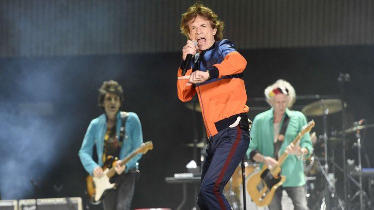 Les Rolling Stones sur scène au festival Desert Trip en 2016.  (Chris Pizzello/AP/SIPA)
