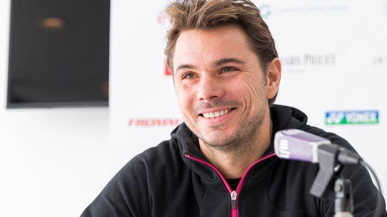 Le Suisse Stan Wawrinka tout sourire en conférence de presse