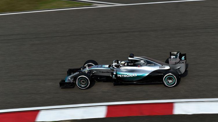 Lewis Hamilton a signé le meilleur temps à Shanghaï (JOHANNES EISELE / AFP)