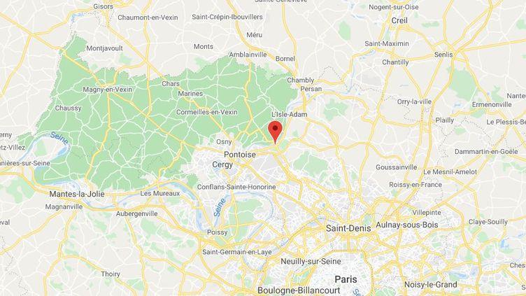 Méry-sur-Oise (Val-d'Oise). (GOOGLE MAPS)