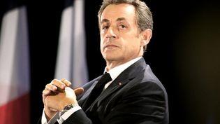 Nicolas Sarkozy, le 2 octobre à Troyes (Aube). (FRANCOIS NASCIMBENI / AFP)
