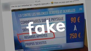 Non, les regards appuyés ne seront pas punis d'une amande de 90 euros (CAPTURE ECRAN / TWITTER)
