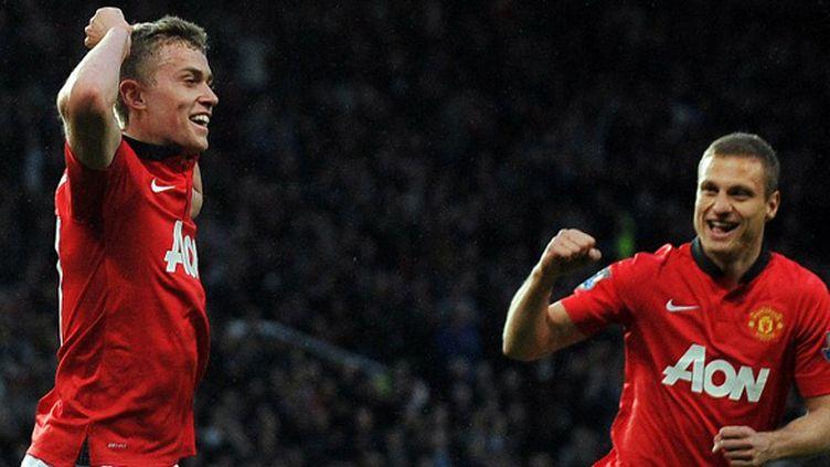 James Wilson et Namanja Vidic (Manchester United) (PAUL ELLIS / AFP)
