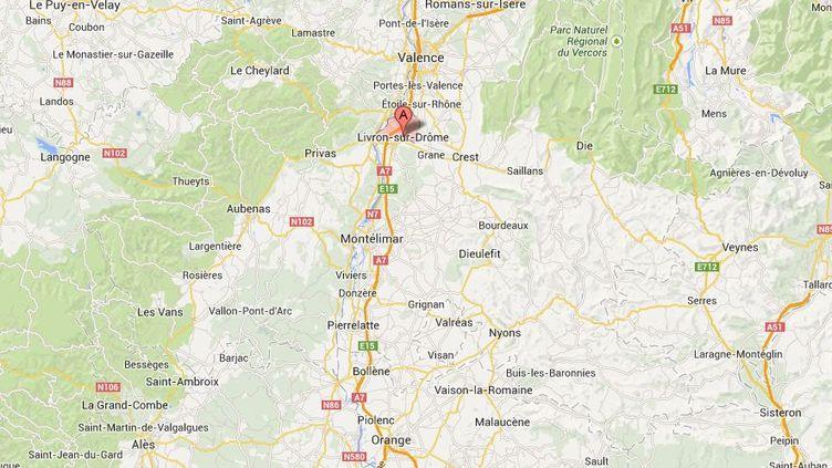 C'est dans une maison de Livron-sur-Drôme que deux enfants ont été retrouvés pendus le 16 novembre 2013. ( GOOGLE MAPS / FRANCETV INFO )