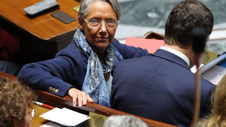 Elisabeth Borne, alors ministre des Transports, le 28 mai 2019, à l'Assemblée nationale. (JACQUES DEMARTHON / AFP)