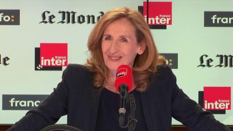 La ministre de la Justice, Nicole Belloubet, le 22 avril 2018. (RADIO FRANCE / FRANCEINFO)