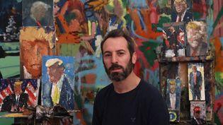 L'artisteIddo Markusse fascine pour Donald Trump mais précise qu'il n'apprécie pas l'ancien président américain. (EMMANUEL DUNAND)