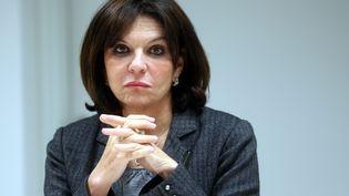 Nathalie Goulet ex-présidente de la commission d'enquête du Sénat contre les réseaux djihadistes, en 2015. (JEAN-MARC LOOS / MAXPPP)