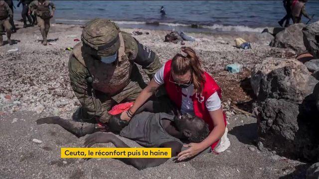 Ceuta : après être venue en aide à un migrant, une secouriste se fait harceler sur les réseaux sociaux