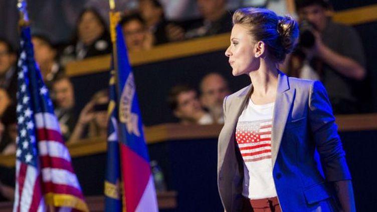Scarlett Johansson à la convention démocrate (Charlotte, 6 septembre 2012)  (SIPA USA-KT/SIPAUSA/SIPA)