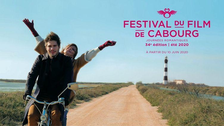 L'affiche du 34e festival du film de Cabourg qui se tient du 10 au 14 juin sur la côte fleurie (Festival de Cabourg)