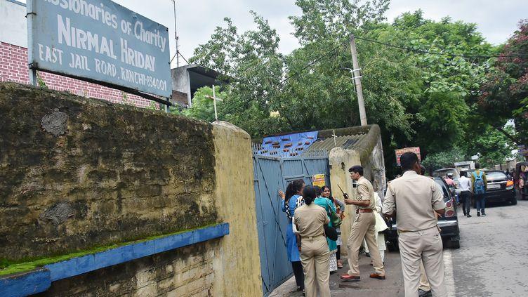 Une nonne desMissionnaires de la charité, la congrégation de mère Teresa, a été arrêtée le 4 juillet 2018 dans un centre de Ranchi (Inde). (AFP)