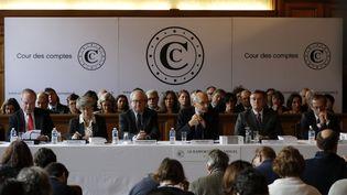 Conférence de presse sur laprésentation de son rapport annuelde la Cour des comptes à Paris, le 8 février 2017. (FRANCOIS GUILLOT / AFP)