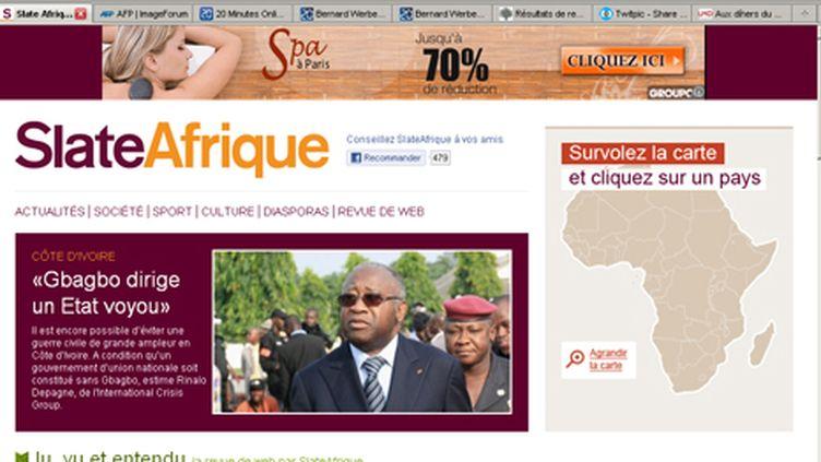 SlateAfrique (page d'accueil, 9 mars 2011) (SlateAfrique)