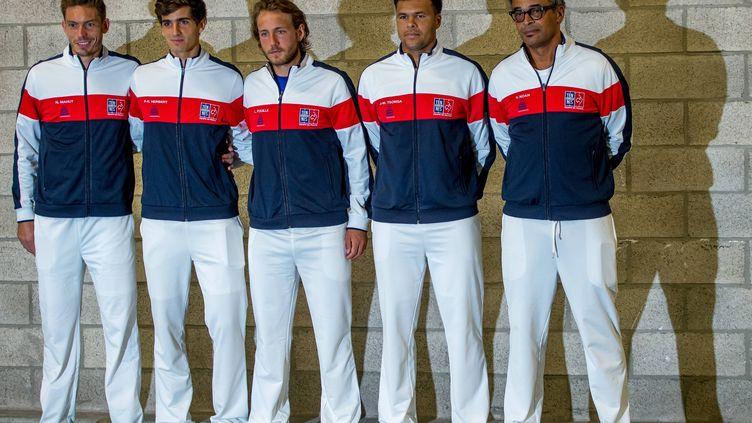 L'équipe de France, lors de la demi-finale de Coupe Davis contre la Serbie en 2017