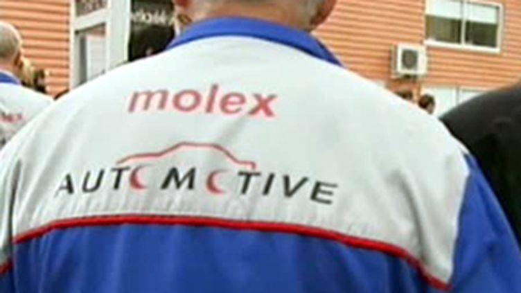 Dans l'usine Molex, fabrique de connecteurs automobiles installée en Haute-Garonne (© France 2)