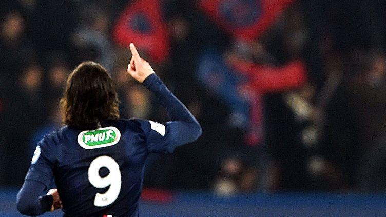 Edinson Cavani a égalisé face à Chelsea pour le PSG (1-1).  (LOIC VENANCE / AFP)