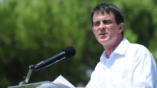 Le Premier ministre Manuel Valls à Vauvert (Gard) le 6 juillet 2014.  (Sylvain Thomas / AFP)