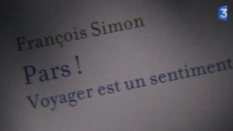 """Un livre, un jour  """"Pars!"""" de François Simon  (Culturebox)"""
