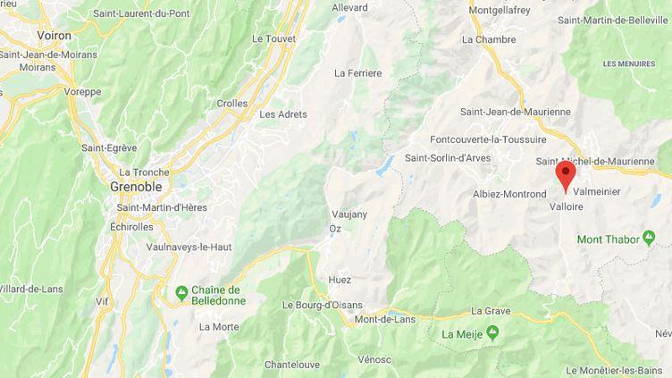 La commune de Valloire, en Savoie (CAPTURE D'ECRAN GOOGLE MAPS)