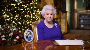 La reine d'Angleterre Elizabeth II lors de sa traditionnelle allocution de Noël, le 24 décembre 2020. (AFP)