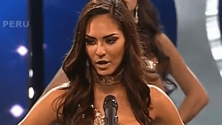 Romina Lozano a dénoncé le trafic d'êtres humains lors de l'élection de Miss Pérou (YOUTUBE)