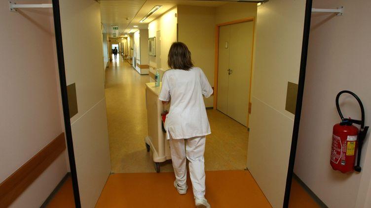 (Unité de soins palliatifs du CHU de Reims où est hospitalisé Vincent lambert, patient tétraplégique en état végétatif depuis 2008 suite à un accident de la route © Maxppp)
