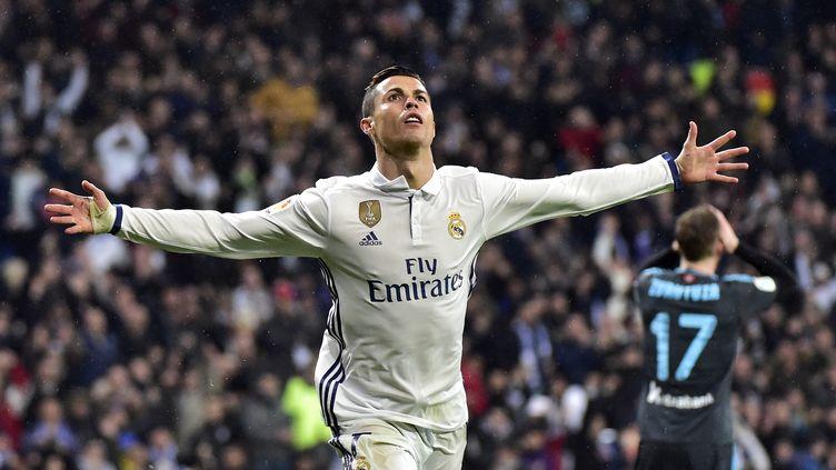 Cristiano Ronaldo savoure un nouveau but sous le maillot madrilène (GERARD JULIEN / AFP)