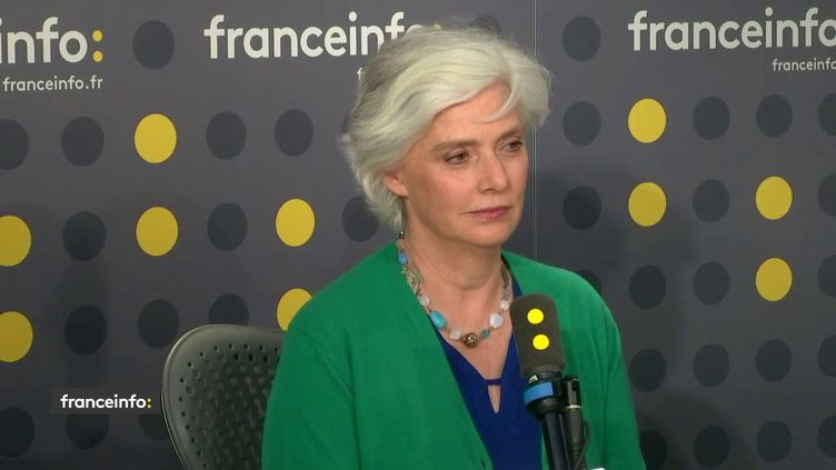 """Frédérique Lantiéri, présentatrice de """"Faites entrer l'accusé"""", était l'invitée de franceinfo lundi 10 février. (FRANCEINFO / RADIO FRANCE)"""
