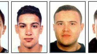 Moussa Oukabir, Said Aallaa, Mohamed Hychami et Younes Abouyaaqoub font partie des suspects des deux attaques survenues jeudi 17 août en Catalogne, en Espagne. (MOSSOS D'ESQUADRA / AFP)