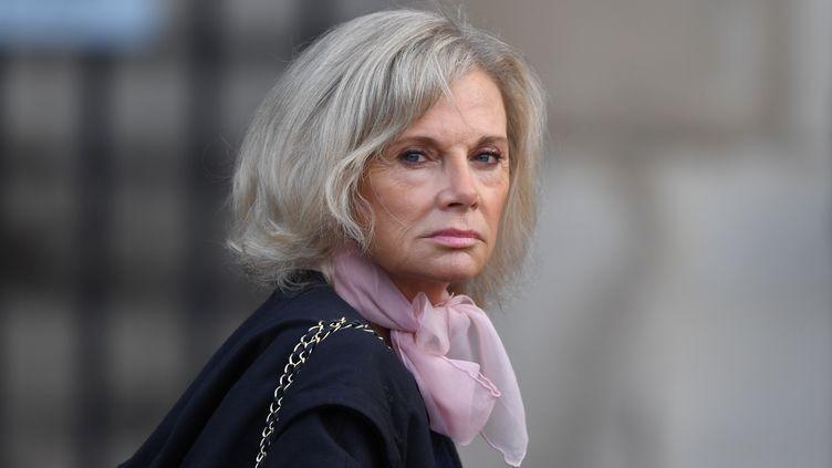 L'ancienne ministre de la Justice Elisabeth Guigou aux funérailles de Jacques Chirac, le 30 septembre 2019 à l'église Saint-Sulpice à Paris. (ERIC FEFERBERG / AFP)