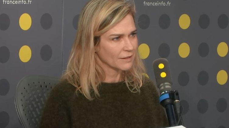"""Marie-Josée Croze, comédienne de la série """"Mirage"""", sur France 2, invitée de franceinfo le 17 février 2020 (RADIO FRANCE)"""