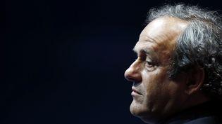 Le président de l'UEFA, Michel Platini, le 28 août 2014 à Monaco. (ERIC GAILLARD / REUTERS)