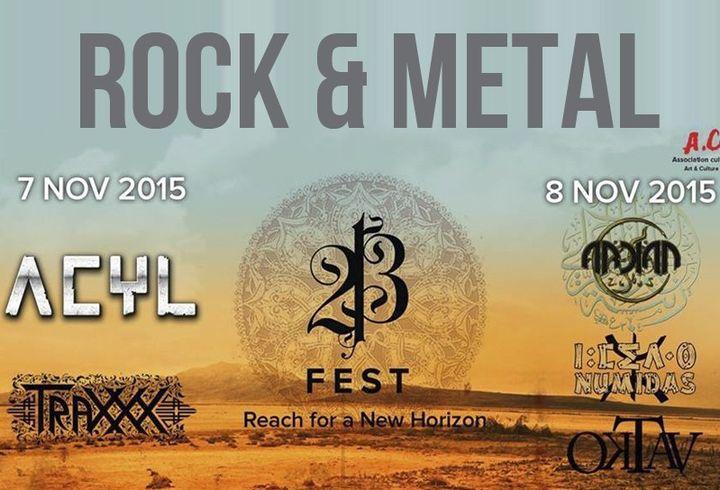 """L'affiche du festival rock et metal """"Fest 213"""" se tenant à Constantine les 7 et 8 novembre 2015.  (Fest 213)"""