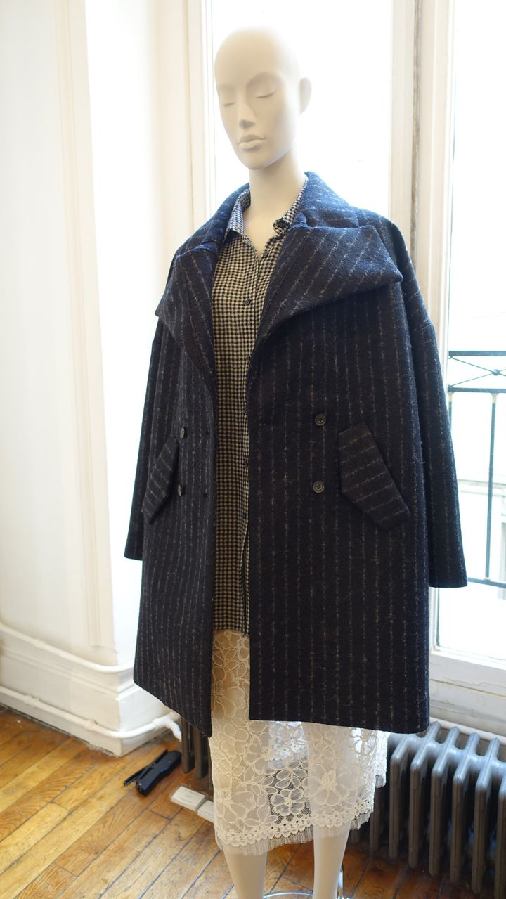 Designers Apartment, mars 2016 Un manteau signé Belle NInon  (Corinne Jeammet)