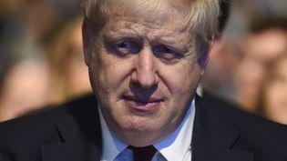 Le Premier ministre britannique Boris Johnson au deuxième jour du congrès du Parti conservateur anglais, le 30 septembre 2019 à Manchester. (OLI SCARFF / AFP)