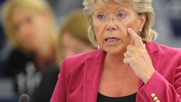 Viviane Reding au Parlement de Strasbourg, le 7 septembre 2010. (FREDERICK FLORIN - AFP)