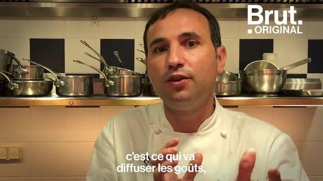 Un cacao qui lui rappelle le goût de son enfance, des produits artisanaux qu'il fait venir de Bresse... François Perret, meilleur chef pâtissier de restaurant du monde, présente son cake marbré. Ce gâteau, c'est lui. Pour Brut, il raconte.
