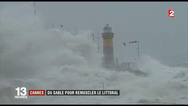 Cannes : du sable pour renforcer le littoral